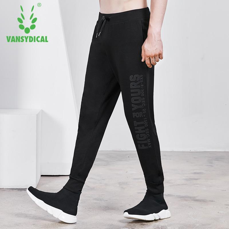Running Spt Vansydical Gym Sweatpants Mens Sports Running Pants Printed Letters Autumn Winter Outdoor Workout Jogging Trousers Male Running Pants
