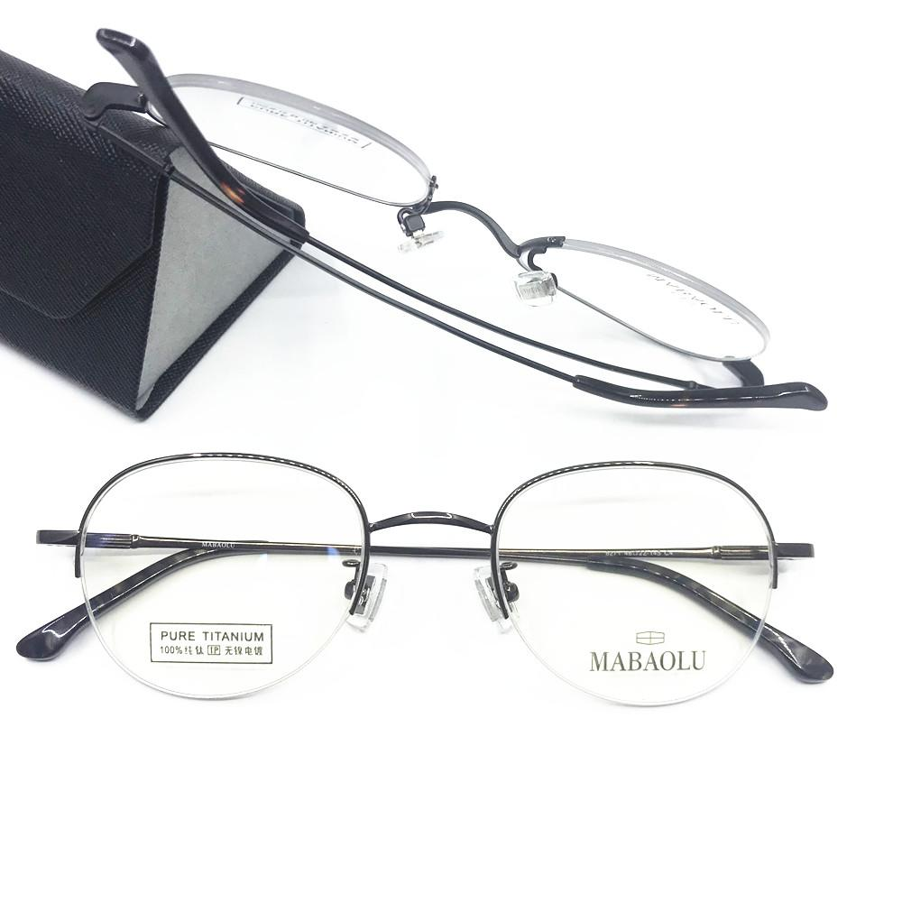 9d63aff4b2 2019 100% Pure Titanium Eyeglass Frames Half Rimless Myopia Rx Able Brand  New Top Quality Glasses From Marquesechriss