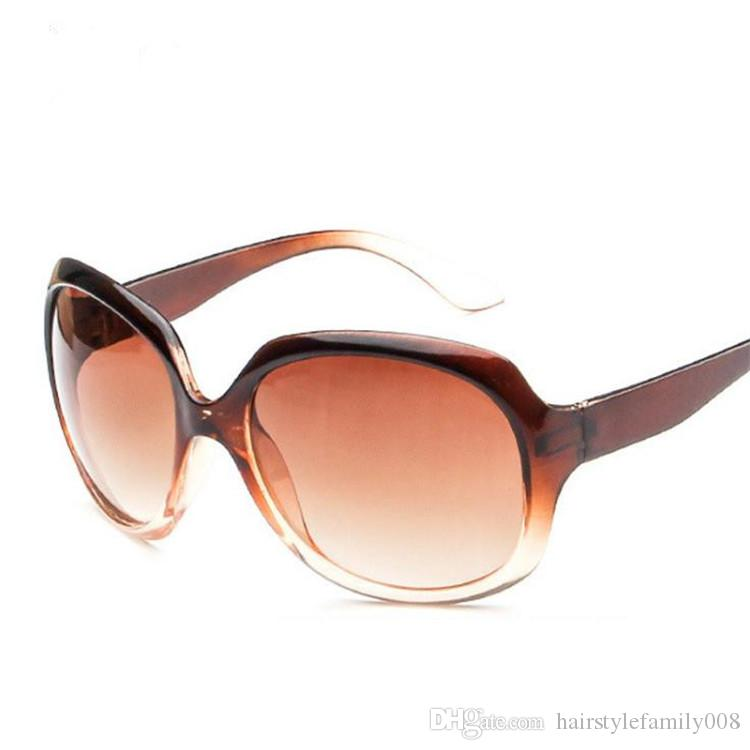 Fashion Women Classic Sunglasses Oversize Frame Sun Glasses Anti-UV Spectacles Eyeglasses Goggle Adumbral SUN Glasses A++ Free Shipping