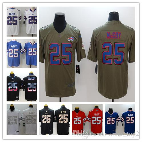 best website 87ac4 4ccad 2019 New Mens 25 LeSean McCoy Jersey Buffalo Bills Football Jerseys 100%  Stitched Embroidery Bills LeSean McCoy Color Rush Football Shirt