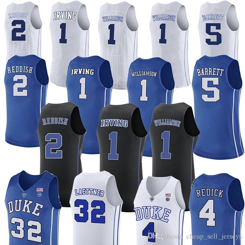 the best attitude 51a06 2dc8b ncaa 1 Zion Williamson jerseys Duke Blue Devils College 2 Cam Reddish 5 RJ  Barrett basketball jersey