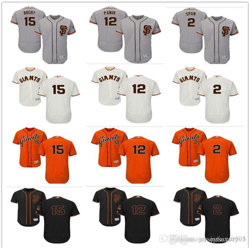 09737c81 2018 custom Men's women youth San Francisco Giants Jersey 12 Joe Panik 15  Bruce Bochy 2 Denard Span home blue kids Baseball Jerseys