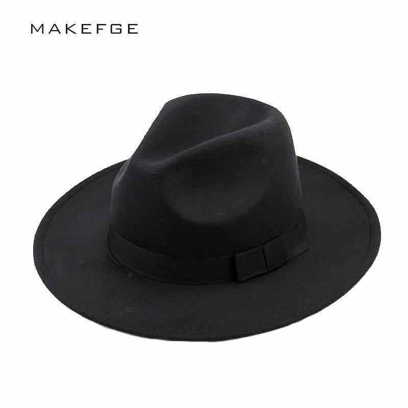 c157242fb1d2 Sombrero de la mafia Sombrero de ala de fieltro de lana para hombres  Sombrero de trilby Mujeres Lana vintage Panamá Fedora Cloche Gorra de lana  de ...