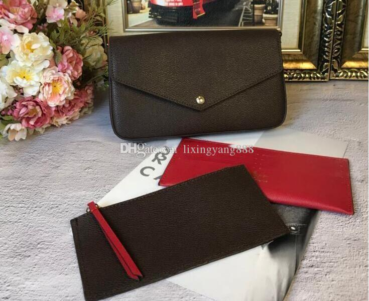 Mobile phone bag wallet three-piece, 2019 new three-in-one chain bag single shoulder Messenger bag detachable