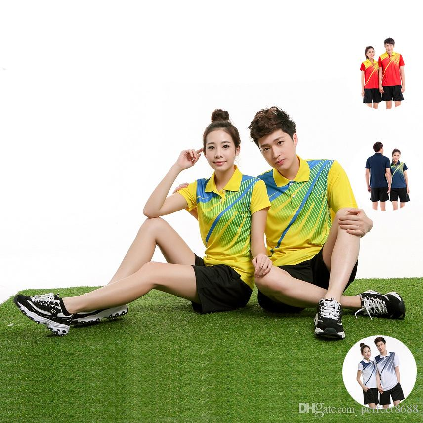 K5 Butterfly Badminton Suit Sportswear for Men & Women Short Sleeve T-shirt Leisure Running Basketball casual wear Table tennis B-5035