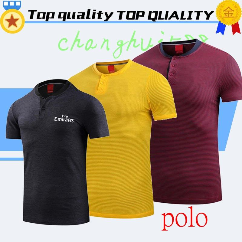 sports shoes 73728 2c906 19/20 Polo Soccer 2020 MBAPPE NEYMAR JR POLO Black Soccer Jersey Yellow Red  Short sleeve Sport Polo Football uniforms sales