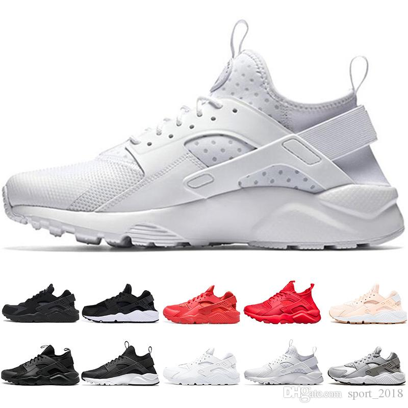 finest selection 9e88b e5018 2019 Huarache 1.0 4.0 Mens Running Shoes Triple Black White Red Pink  Fashion Huaraches Mens Trainers Women Sports Sneaker 36 45 From Sport 2018,  ...