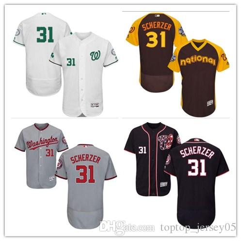 df0f4b2a2 2018 Washington Nationals Jerseys  31 Max Scherzer Jerseys Men WOMEN ...