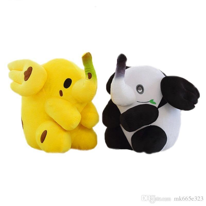 6885b338ea65 2019 Cute Elephant Panda Transform Banana Fig Plush Toys 50cm 20 Inch  Fluffy Stuffed Animal Soft Toy Birthday Gifts Sofa Pillow From Dindinbaby,  ...