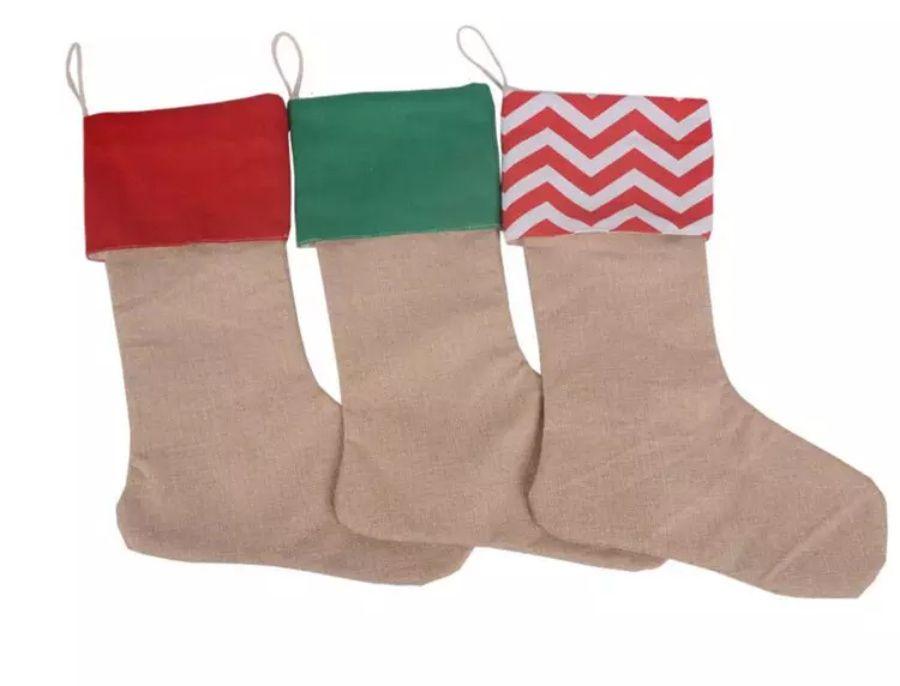 5dd821b3462 Good Quality 30 45cm Canvas Christmas Stocking Christmas Gift Bag Stocking  Christmas Tree Decoration Socks Xmas Stockings 7 Styles DHL Free Large  Christmas ...