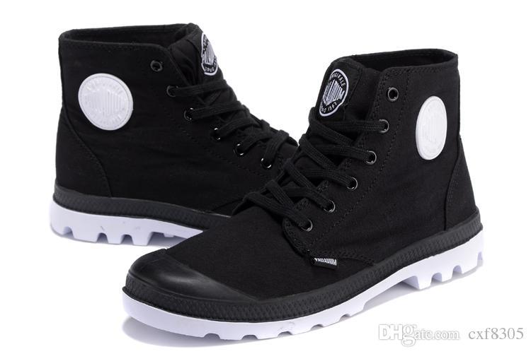 buy online 694dd 8ad38 HOT scarpe firmate PALLADIUM Sneakers donna Pampa Lo Cuff Soldiers Stivali  moda lusso mens Scarpe Tela Scarpe casual Stivali centrali Taglia 35-45