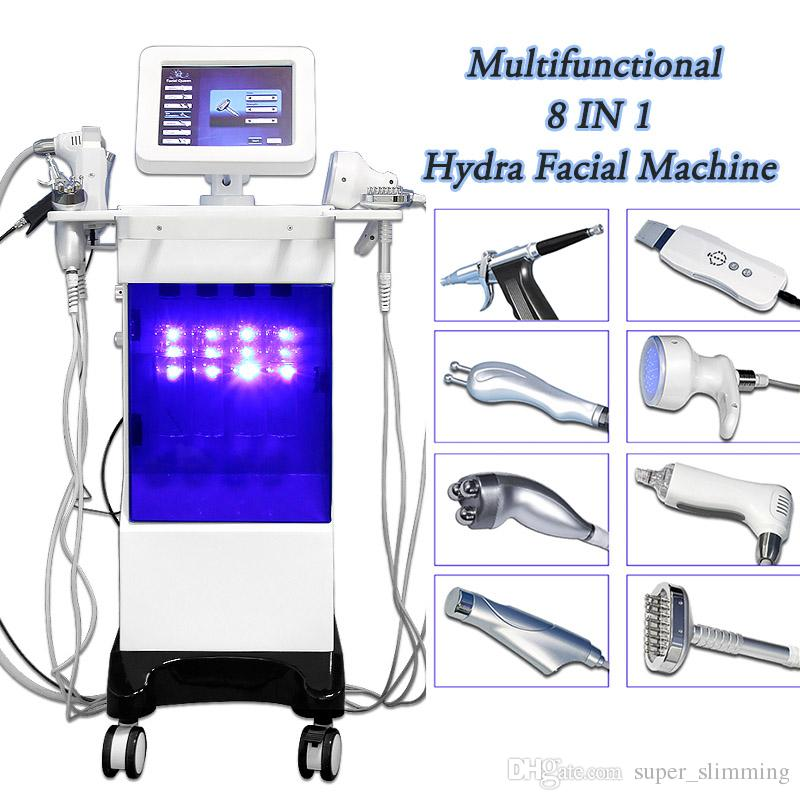 hydrafacial equipment mini microdermabrasion skin cleansing 8 in 1 water oxygen machine hydra radio frequency skin tightening machines