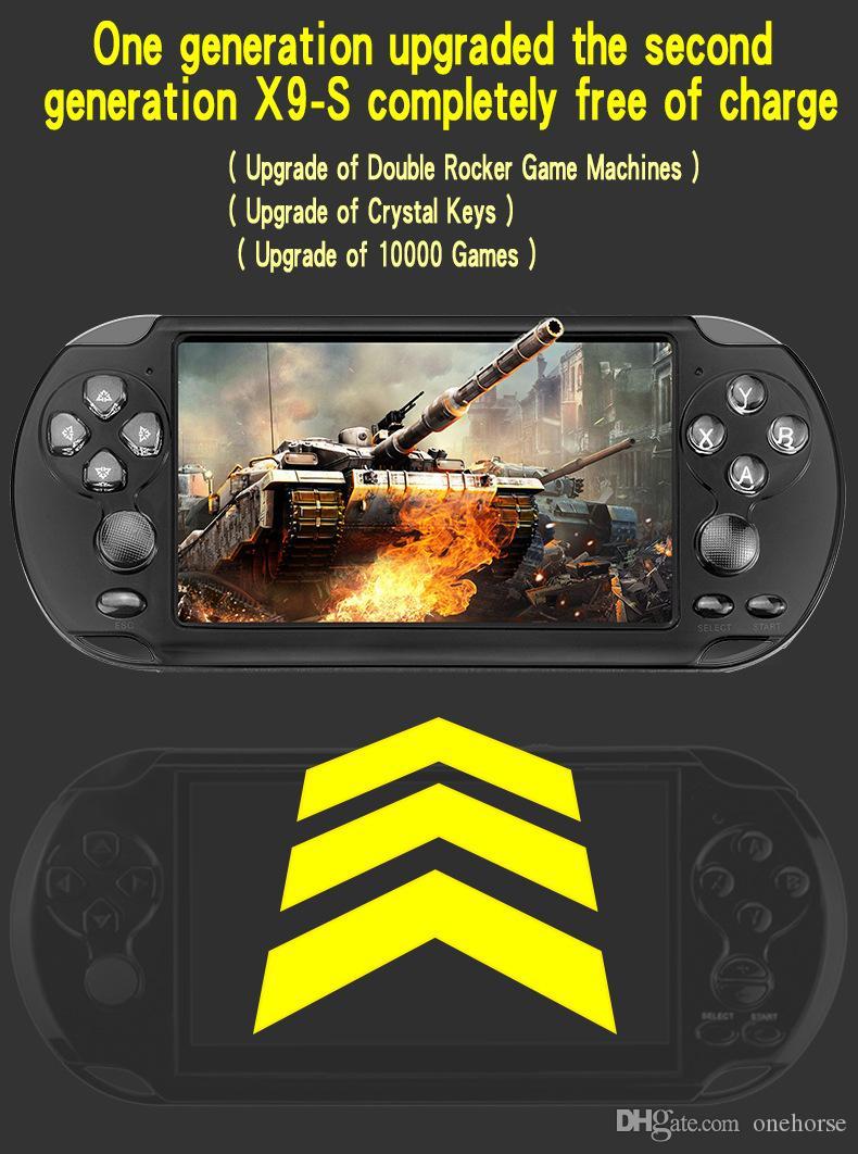 ألعاب الفيديو المحمولة مع 5.1 بوصة شاشة الحرة 10000 الالعاب لعبة المحمولة وحدة التحكم مع 8GB تخزين الكلاسيكي ممر الرجعية الألعاب لاعب