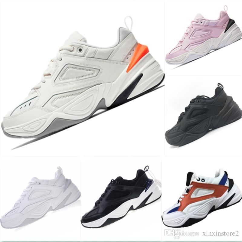 official photos c2b0e 72e52 2018 NEW Air Monarch the M2K Tekno Dad Sports Running Shoes Off Top quality  Women Mens Designer Zapatillas White Sports Trainers Sneakers