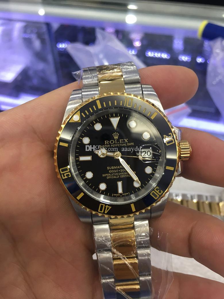 495650cb893 Compre Caixa Original De Luxo Relógio De Pulso 116610 LN Mens Aço  Inoxidável CERAMIC Bezel Azul Dial 40 MM 2813 Movimento Automático Mens  Watch Watches De ...