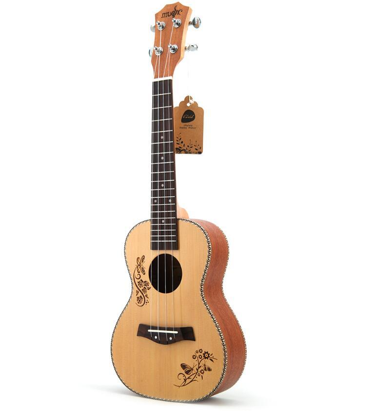 2019 new 23 inch ukulele spruce Sapele small guitar beginners introduction to musical instruments maternity direct sales wholesale