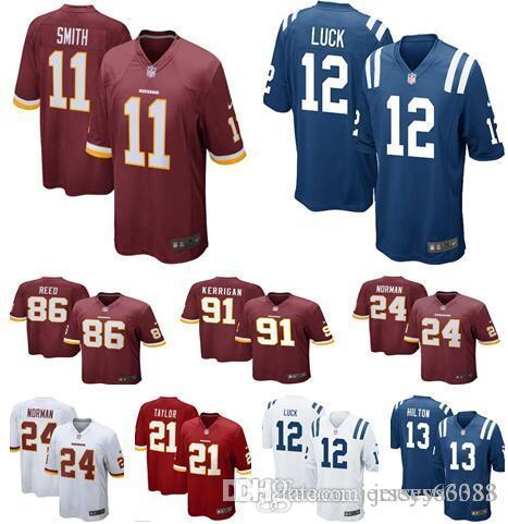 info for 01da3 f6158 Men Washington Women Youth kids Redskins 11 Alex Smith 24 Josh Norman 91  Kerrigan 21 Taylor 86 reed Colts 12 Andrew Luck Hilton Jerseys