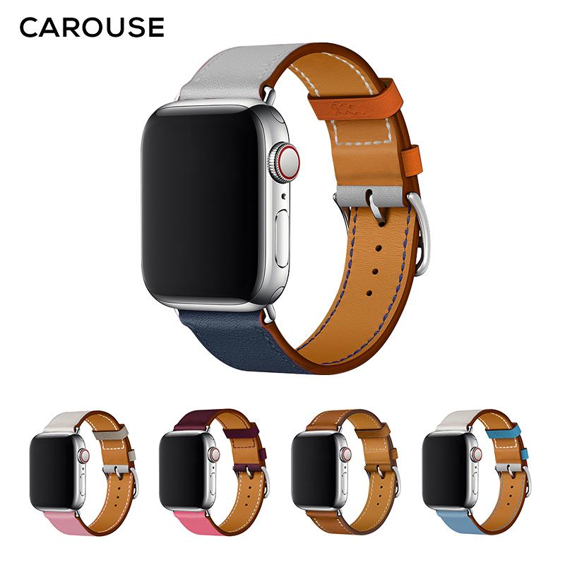 Carouse Einzel Tour-Band Series 3/2/1 38mm 42mm Lederarmband 4 Sports Armband 40mm 44mm