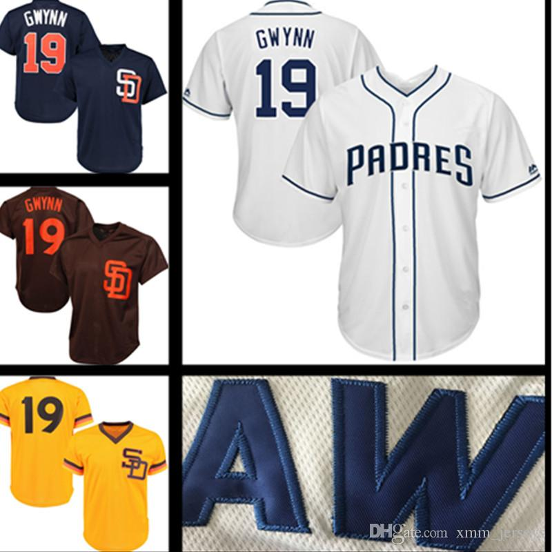 2019 San Diego Padres Jersey 19 Tony Gwynn 4 Wil Meyers Baseball Jerseys  Stitched Logos From Xmm jerseys dddefd7a0
