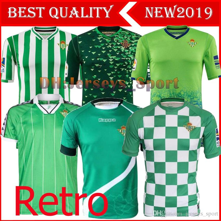 1cf7ec2a0 2019 2019 Real Betis LIMITED EDITION CHECKERED Soccer Jersey JOAQUIN ...