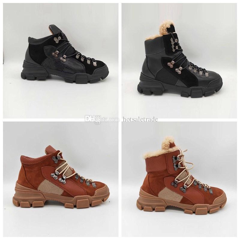 Men's Boots Men's Shoes 2019 Warm Men Mart Boots Couples Winter Casual Rubber Snow Boots With Fur Leather High Top Ankle Boots Men Leisure Shoes
