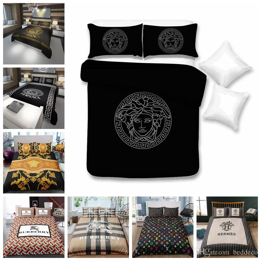 Luxury Bedding Set King Size Fashionable High End Duvet Cover Queen Classic Twin Full Single Double Soft Bed Cover With Pillowcase
