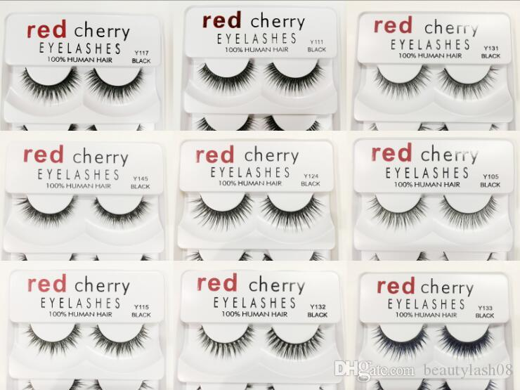 makeup Red Cherry False eyelashes 5 pairs/pack 12 Styles Natural Long Professional makeup Big eyes High Quality DHL shipping