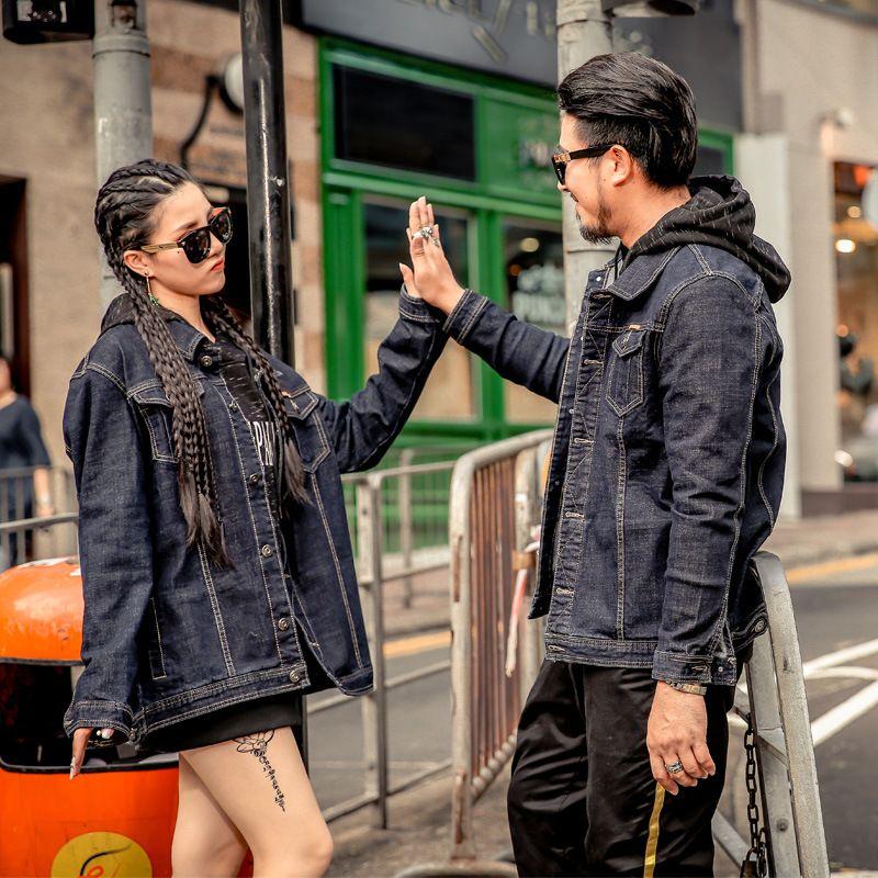 fdffe1d3e8386 Brand Large Size Men S Wear Increased Fat Black Denim Jacket Coat Over  Sized Coats Nice Mens Jacket From Yhbpants