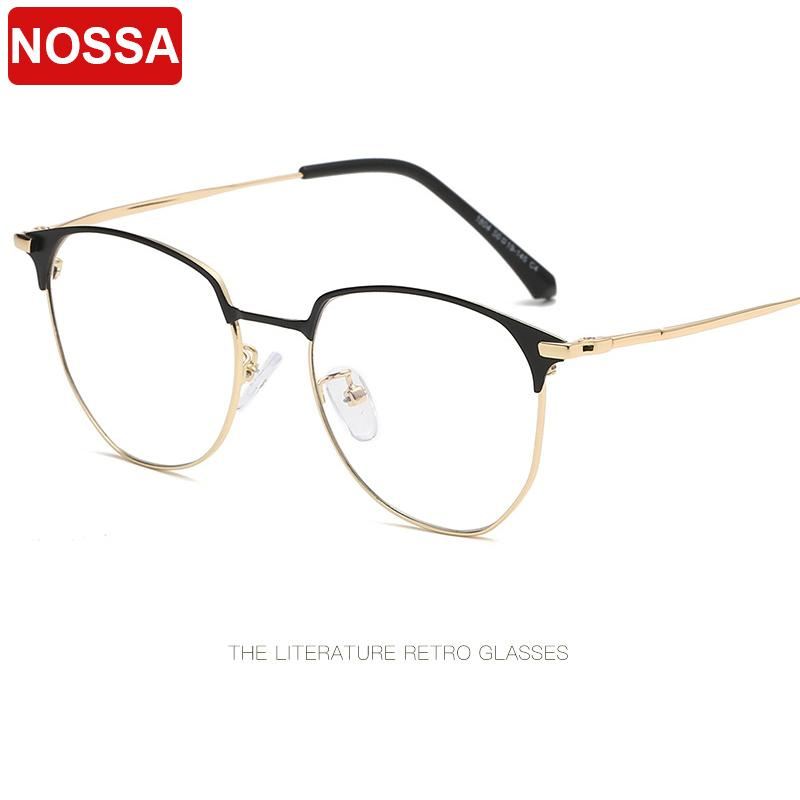 6f698368b5c 2019 2019 Exquisite New Round Frame Glasses Frame Fashion Half Metal Flat  Mirror Trend Men And Women Decorative Glasses Frame.