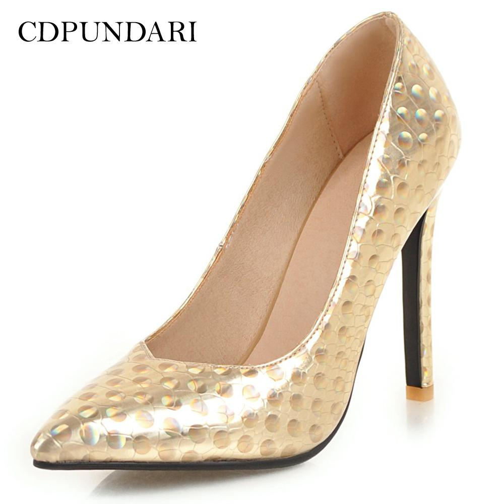 97454d19f738 Wholesale Sexy Pointed Toe High Heels Women Shallow Pumps Ladies Wedding  Shoes Woman Gold Silver Black Online with  71.34 Pair on Dshoebag001 s  Store ...