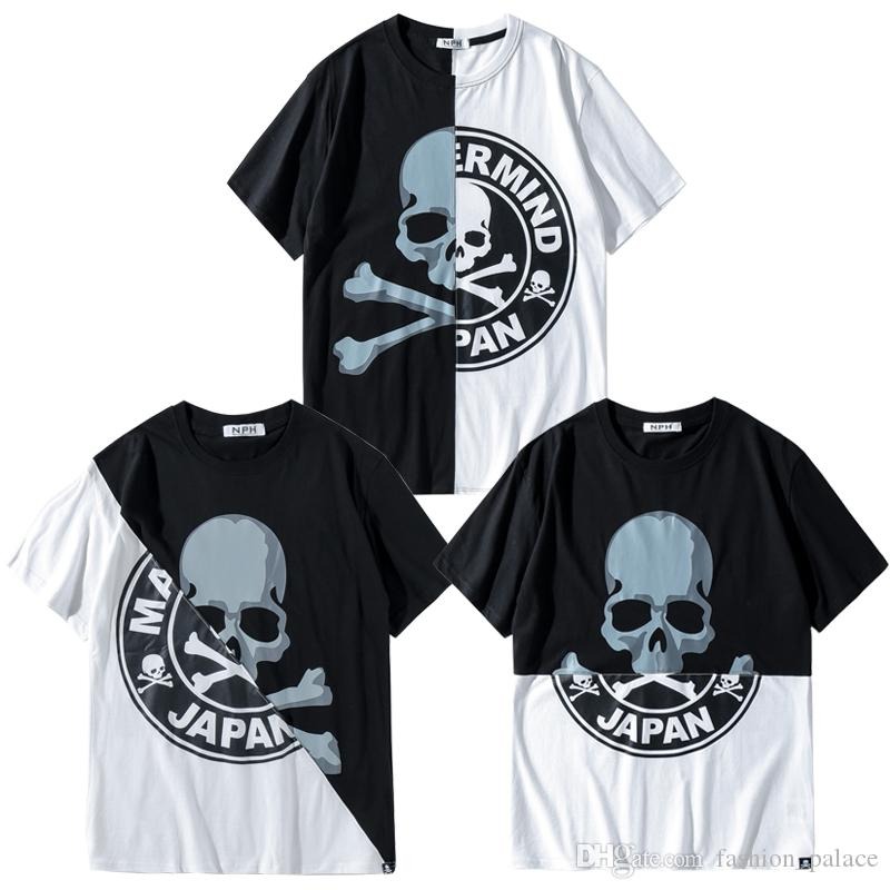 d661b8d80 Mastermind Japan Patchwork T-shirt MMJ Skull Tee New Style Men Hip Hop  Streetwear Short Sleeve Cotton T-shirts LWI0408