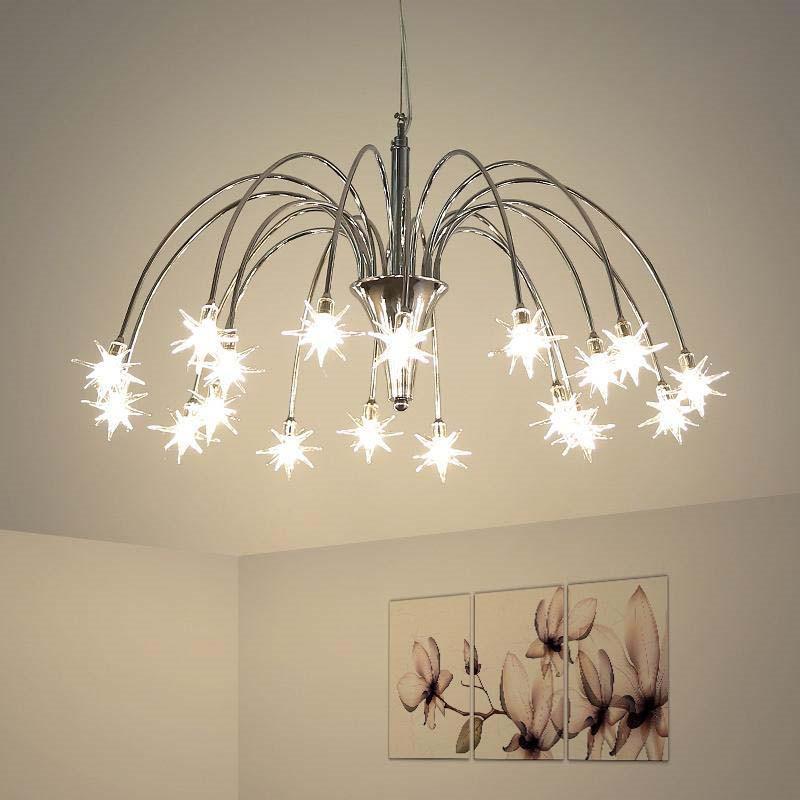 grosshandel simplicit silber und gold kronleuchter modern fur esszimmer wohnzimmer lamparas colgantes metallkorper kronleuchter beleuchtung glanz von