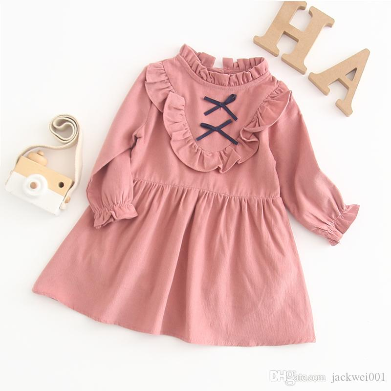 f85de59b7eef 2019 Baby Dresses 2019 Spring Baby Girls Clothes Princess Girls Dress Ball  Of Yarn Kids Clothes Children Party Princess Dresses From Jackwei001
