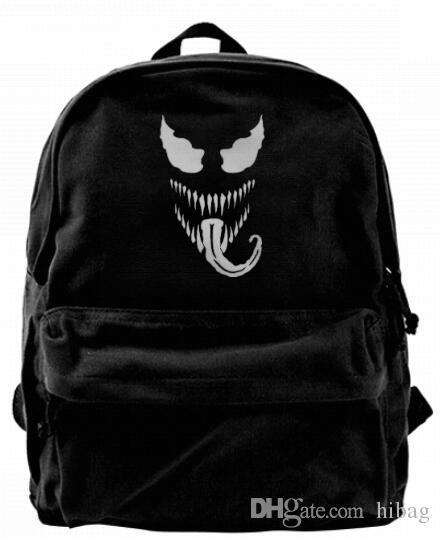 f6f57bd9b0a502 Venom Spiderman Marvel Comics Fashion Canvas Designer Backpack For Men &  Women Teens College Travel Daypack Leisure Bag Black Running Backpack  Osprey ...