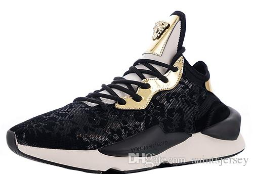 9f66745d6d272 2019 With Box Mens YohjiYamamoto Kaiwa Chunky Sneakers For Men Sneaker Male  Fashion Shoes Man Gold Shoe Men S Sports Chaussures Golden Trainers From ...