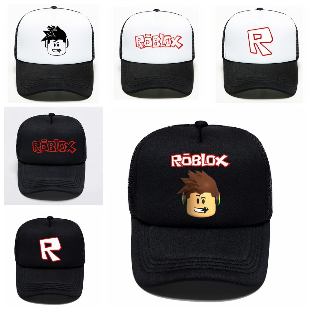 kids adult Roblox game baseball cap summer mesh outdoor cartoon hip hop hat sun man women boy girls cap 150pcs AAA2023