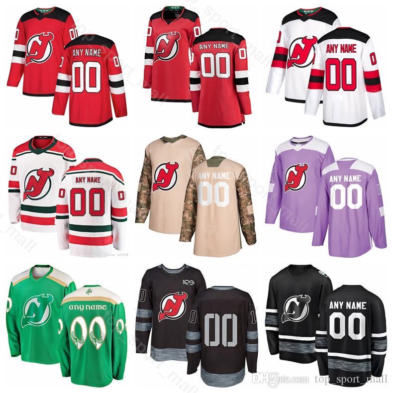sports shoes d22da 86ec9 Blake Coleman Jersey New Jersey Devils Ice Hockey Marcus Johansson Will  Butcher Miles Wood Andy Greene Brian Boyle Camo Veterans Day