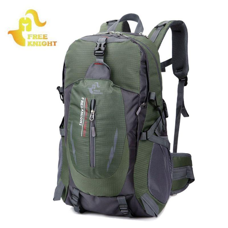 b9734f428f 2019 40L Outdoor Sports Climbing Trekking Hiking Travel Bag Large Capacity  Waterproof Nylon Rucksack Walking Stick Tourist Bag XA34WD  288269 From  I jersey