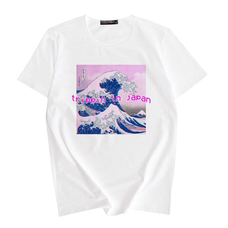 f2667b37bd59 Women'S Tee 2019 New Fashion Women Shirt Vaporwave Tumblr Awesome Aesthetic  T Shirt Short Sleeve O Neck Harajuku Kawaii Casual Tops Tee Funny Print T  Shirts ...
