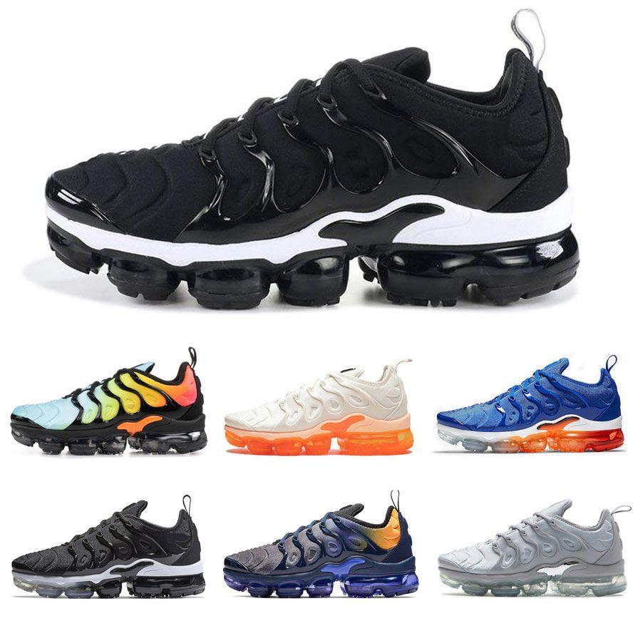 TN Plus Laufschuhe für Herren Damen Sneakers PURE PLATINUM dreifach schwarzweiß USA coole wolfgrau Herren Turnschuhe Designer Sport Turnschuhe