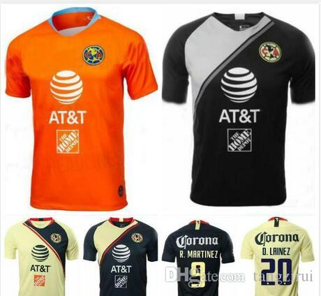 a2859117aca 2019 1 18 19 America Jersey Goalkeeper Orange Soccer Jersey 2018 2019 Away  Mexico Club Third Black Football Shirt P.AGUILAR O.PERALTA MATHEUS From  Tangzirui ...
