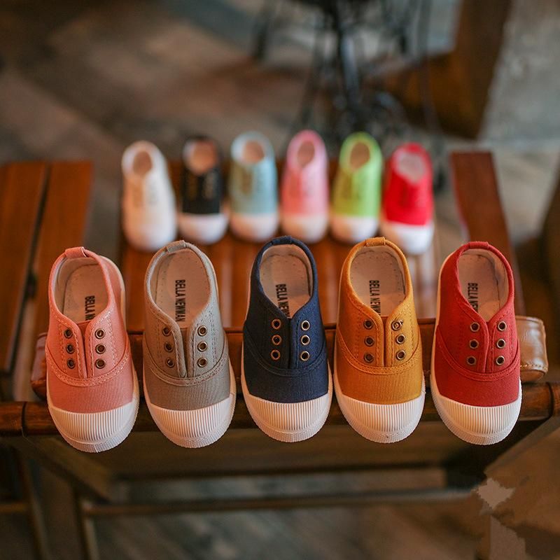 Summer Children Shoes Canvas Sneakers 2018 Spring Kids Fashion Girls Casual Shoes Toddler Boy Canvas Shoes Cheap Kids Trainers