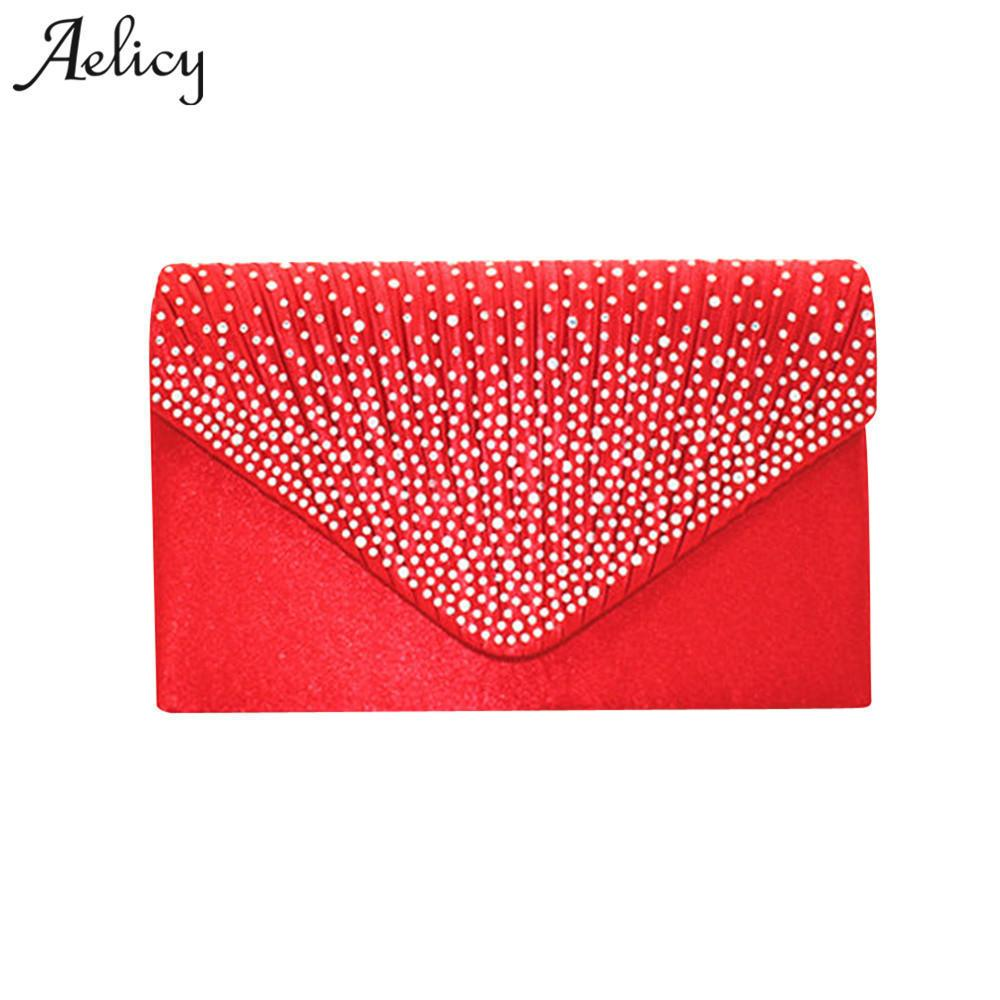 Designer Aelicy Fashion Ladies Large Evening Handbags Women Vintage Leather  Satin Bridal Diamante Clutch Bag Party Women Messenger Bags Luxury Bags  Handbags ... 1147001728f7