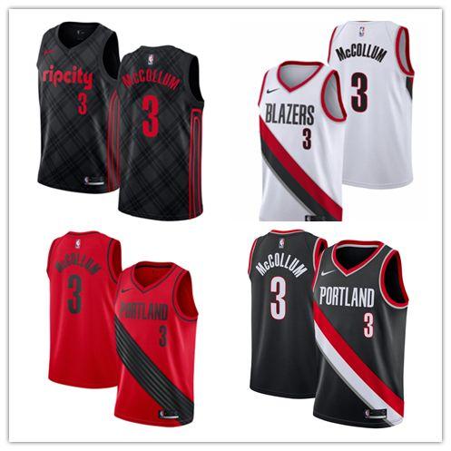 572436e2f 2018 2019 New The City Edition 3 C.J. McCollum Jerseys Stitched Mens Rip  City Trail Blazers C.J. McCollum Basketball Jerseys Red Black White From  Xmas xmas