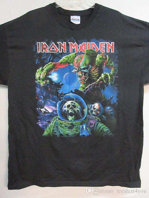 e3a6697b New Iron Maiden Final Frontier 2010 Tour Band Concert Music T Shirt Extra  Large Tee Shirt Men Top Design Short Sleeve Fashion Custom Plus S Funny T  Shirts ...
