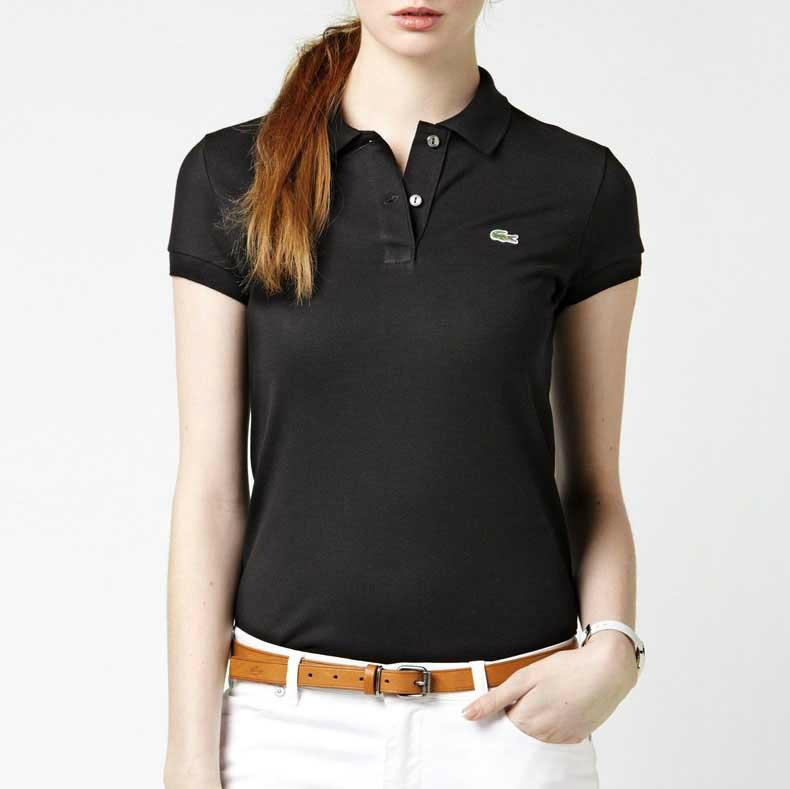 28495e0e350f7 2019 Summer Tees Women s Lapel Short Sleeve Polo Shirt Solid Color ...