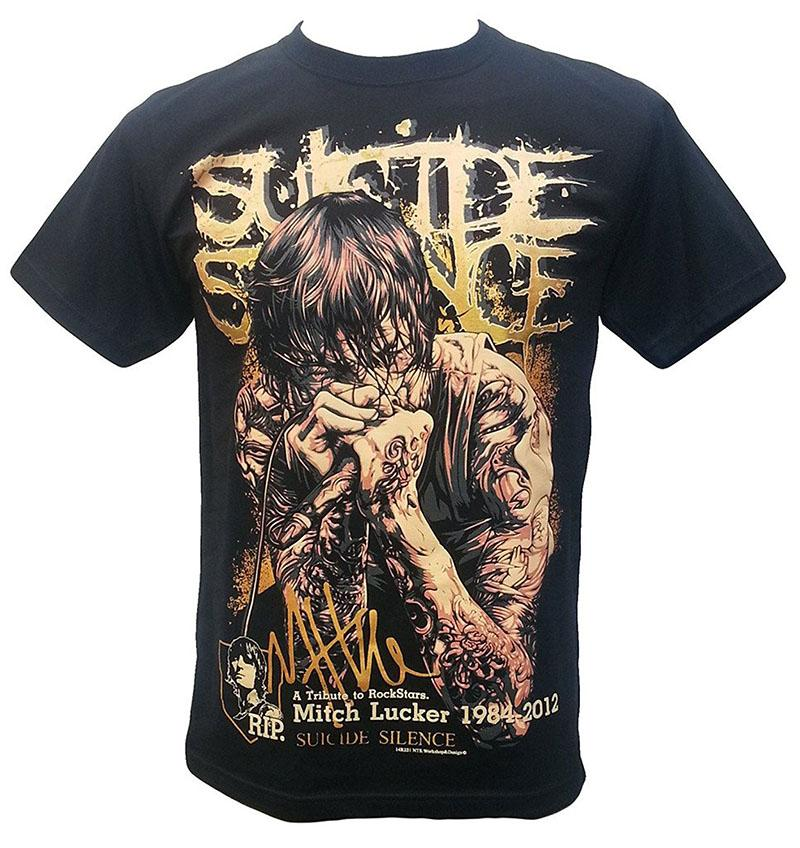 Company T Shirts Mitch Lucker Suicide Silence American Musician And Lead  Singer T Shirt Black Crew Neck Casual Short Tee Shirts
