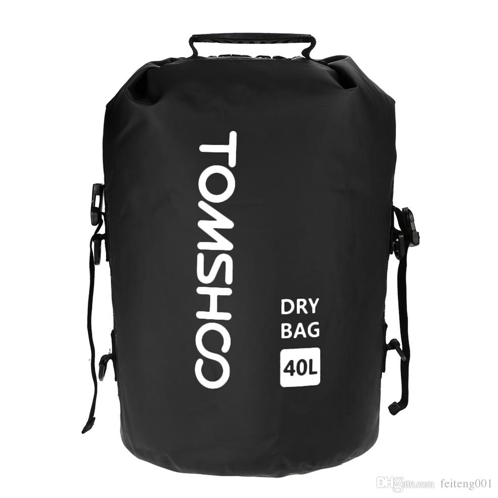 63ddb434597 2019 TOMSHOO 40L Swimming Waterproof Bag Rafting Storage Dry Bag Outdoor  Cycling Backpack Camping Hiking Dry Bags Floating Pack Sack #371090 From  Feiteng001 ...