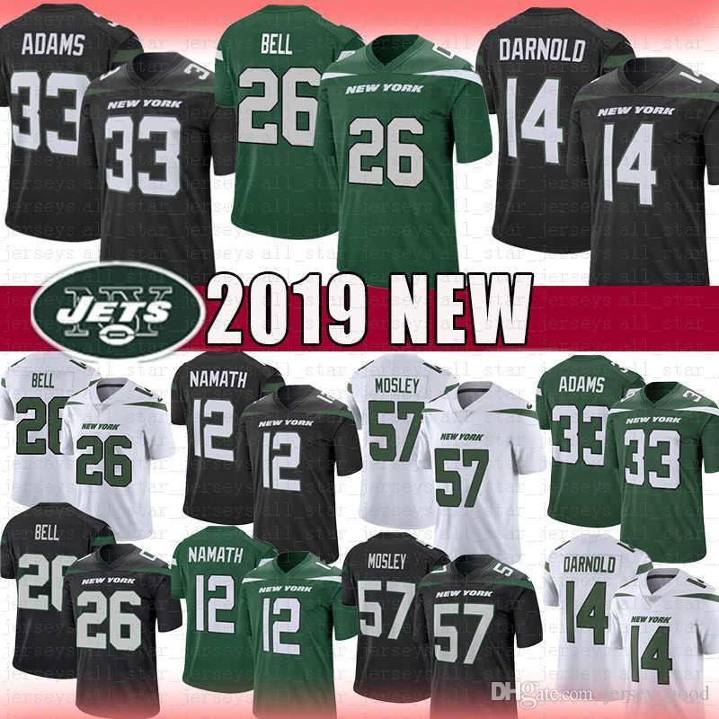 promo code a6680 12d03 Stitched Jets Sam Darnold New York Jersey Jamal Adams Le'Veon Bell C.J.  Mosley Joe Namath Football Jerseys Black white Green s-xxxl