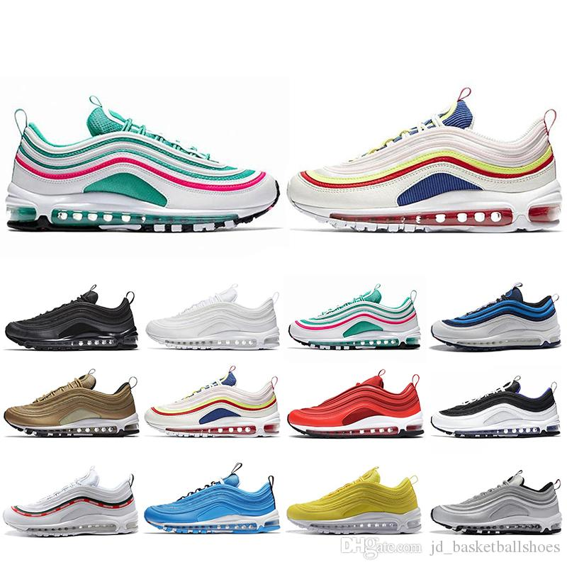 e6ff451e7bd 2019 Hot Sale 97 Running Shoes For Mens Women Ultra Gym Red Mustard South  Beach Blue Hero SE 97s Trainers Designer Sports Sneakers 5 11 From ...